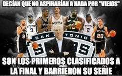 Enlace a Los Spurs callando a la final