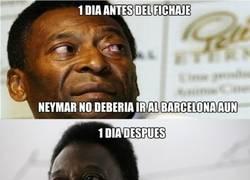 Enlace a Pelé, un poco de consistencia