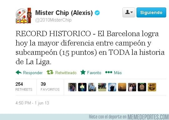 143731 - El récord del Barça en liga por @2010MisterChip