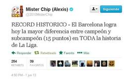 Enlace a El récord del Barça en liga por @2010MisterChip