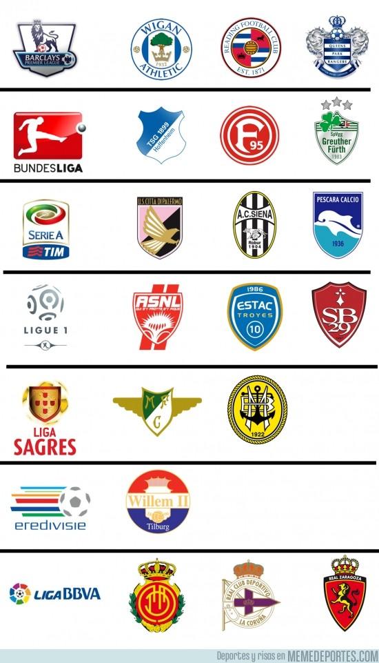 143930 - Equipos descendidos de las grandes ligas Europeas 2012/2013