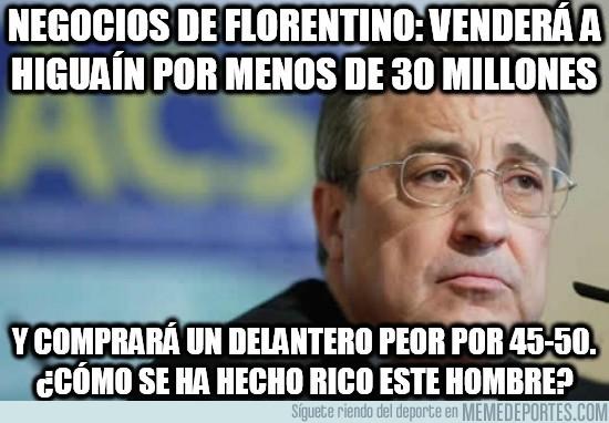145336 - Negocios de Florentino: venderá a Higuaín por menos de 30 millones