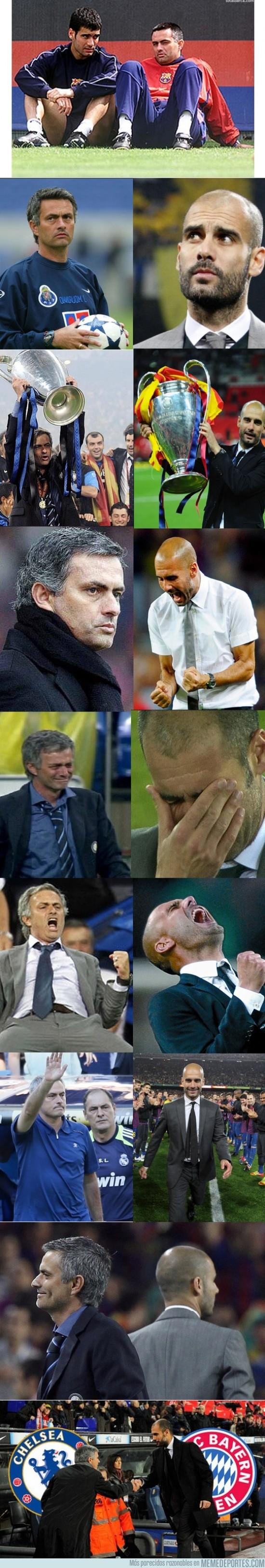 145378 - Jose Mourinho y Josep Guardiola, caminos paralelos