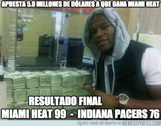 145422 - Apuesta 5.9 millones de dólares a que gana Miami Heat
