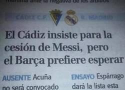 Enlace a En el 2005 Messi casi se va cedido al Cádiz, ¿qué hubiera pasado?