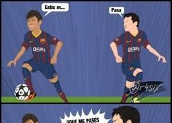 Enlace a Neymar y Messi ya se entienden a la perfección por @r4six