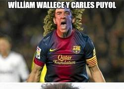 Enlace a William Wallace y Carles Puyol, separados al nacer