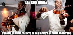 Enlace a Lebron James, talento innato