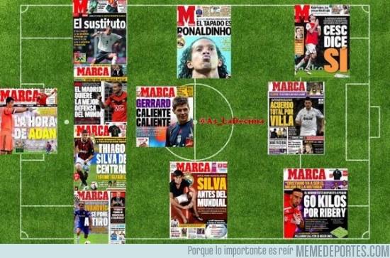 146645 - La alineación del Real Madrid para la próxima temporada según las portadas del diario Marca