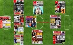 Enlace a La alineación del Real Madrid para la próxima temporada según las portadas del diario Marca
