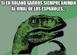 Enlace a Si en Roland Garros siempre animan al rival de los españoles...