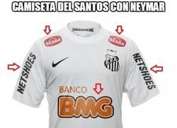Enlace a La camiseta del Santos con/sin Neymar