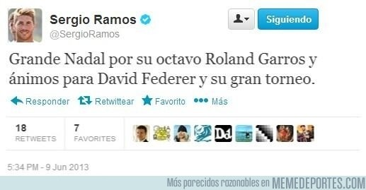148073 - Ramos la lía otra vez en twitter [Fake colado al mundodeportivo]