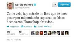Enlace a Ramos desmintiendo su supuesto tweet anterior.