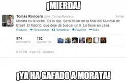 Enlace a Morata ya está gafado