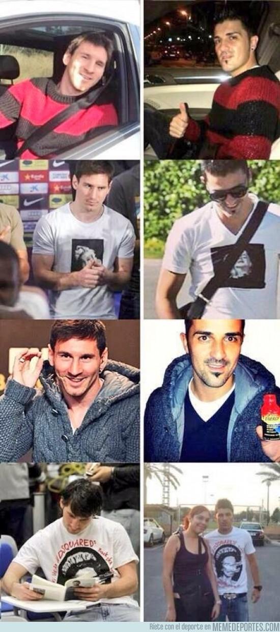148816 - ¿Villa tratando de ser Messi o al revés?