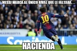 Enlace a Messi marca al único rival que le faltaba