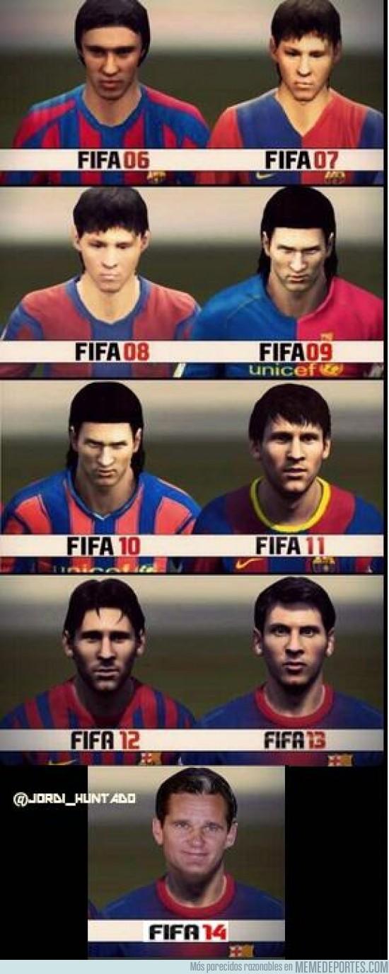 149394 - Así ha evolucionado Messi en la saga FIFA