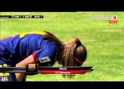 Enlace a VÍDEO: El Barça femenino también hace goles espectaculares