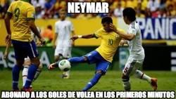 Enlace a Neymar, abonado a los goles de volea