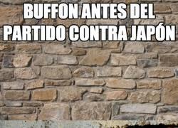 Enlace a Buffón antes del partido contra Japón