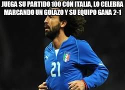 Enlace a Juega su partido 100 con Italia, lo celebra marcando un golazo y su equipo gana 2-1