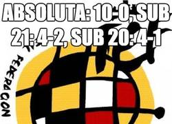 Enlace a Absoluta: 10-0, Sub 21: 4-2, Sub 20: 4-1