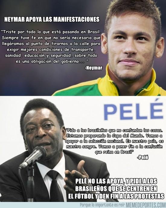154112 - Pelé y Neymar, lados opuestos frente a las protestas y manifestaciones