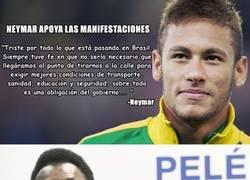 Enlace a Pelé y Neymar, lados opuestos frente a las protestas y manifestaciones