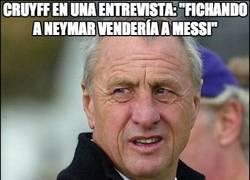 Enlace a Cruyff en una entrevista: