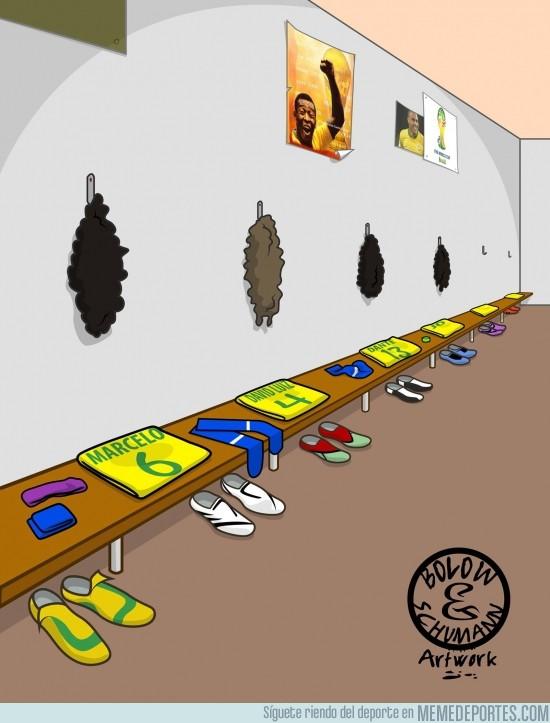 155855 - El vestuario de Brasil listo para el partido contra Uruguay