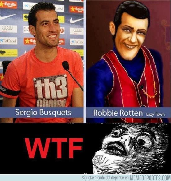 157543 - Sergio Busquets y Robbie Rotten, separados al nacer