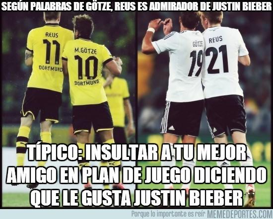 160513 - Según palabras de Götze, Reus es admirador de Justin Bieber