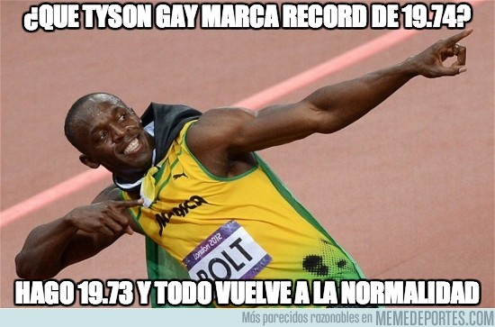 161521 - ¿Que Tyson Gay marca record de 19.74?