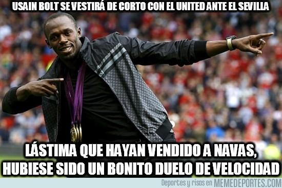 161873 - Usain Bolt se vestirá de corto con el united ante el Sevilla