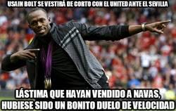 Enlace a Usain Bolt se vestirá de corto con el united ante el Sevilla