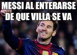 Enlace a Messi al enterarse de que villa se va