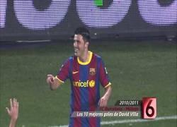 Enlace a VÍDEO: Los diez mejores goles de David Villa con el FC Barcelona #muchasuerteguaje
