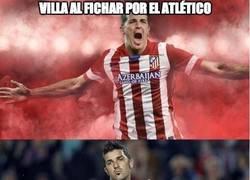 Enlace a Villa al fichar por el Atlético