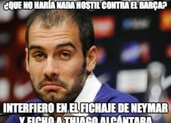 Enlace a ¿Que no haría nada hostil contra el Barça?