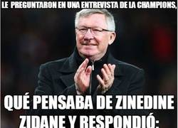 Enlace a Ferguson sobre Zidane