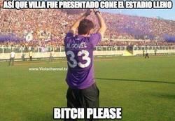 Enlace a Así que Villa fue presentado con el estadio lleno