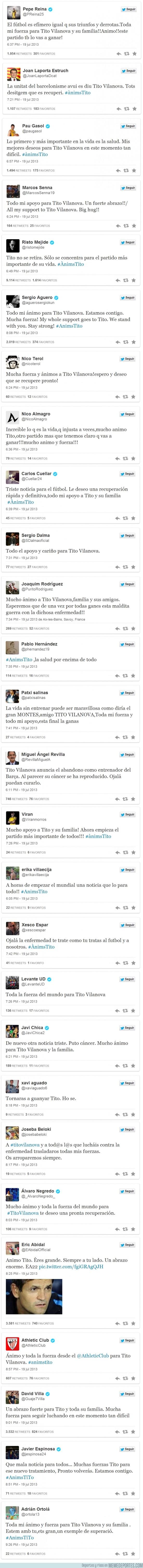 166433 - Deportistas y famosos se vuelcan con Tito en las redes sociales #ÀnimsTito