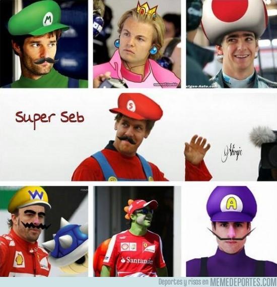 166938 - Vimos a Seb vestido de Super Mario. Éste es el resto del plantel