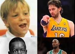 Enlace a Los jugadores de la NBA en la infancia