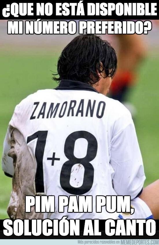 167791 - ¿Sabías que Zamorano utilizó esta camiseta porque Ronaldo ya tenía el 9?