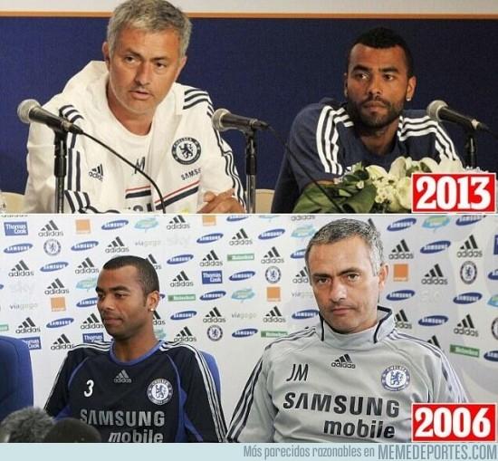 167972 - Siete años han pasado entre estas dos imágenes: José Mourinho y Ashley Cole
