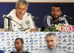 Enlace a Siete años han pasado entre estas dos imágenes: José Mourinho y Ashley Cole