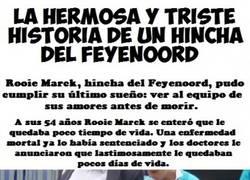 Enlace a Emotiva historia de un auténtico hincha del Feyenoord con cáncer terminal
