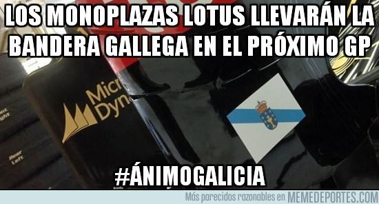 168984 - Los monoplazas Lotus llevarán la bandera gallega en el próximo gp